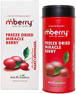 mberry Miracle Berry Freeze Dried Fruit, 25 Berries