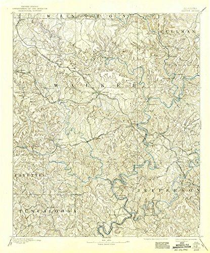 YellowMaps Jasper AL topo map, 1:125000 scale, 30 X 30 Minute, Historical, 1893, updated 1942, 19.8 x 16.4 IN - (Hudson Valley Jasper)