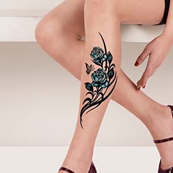 Amazon.com : TAFLY Waterproof Temporary Tattoo Sticker Flower Vine ...