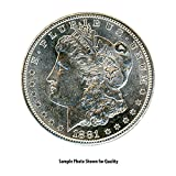 #5: 1881 S Morgan Silver Dollar $1 Brilliant Uncirculated