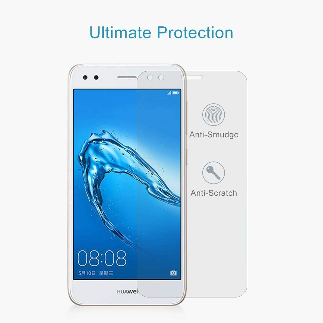 0.26mm 9H Surface Hardness 2.5D Curved Edge Tempered Glass Screen Protector zys 2017 ZHANGYUNSHENG 100 PCS for Huawei Y6 Pro