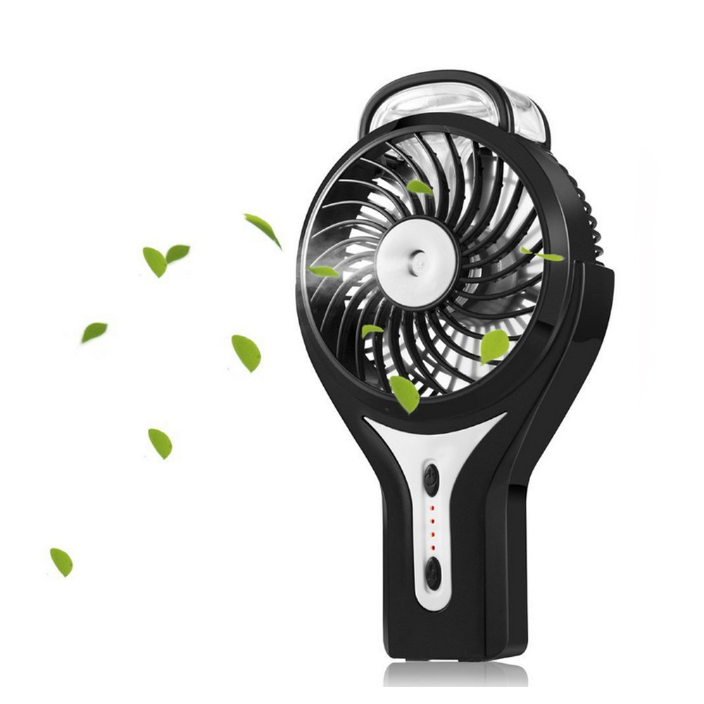 Misting Fan, iKiwi Portable USB Fan, Mini Handheld Cool Misting Fan for Home, Outdoor and Office, Bulit in 2200mAh Rechargeable Battery