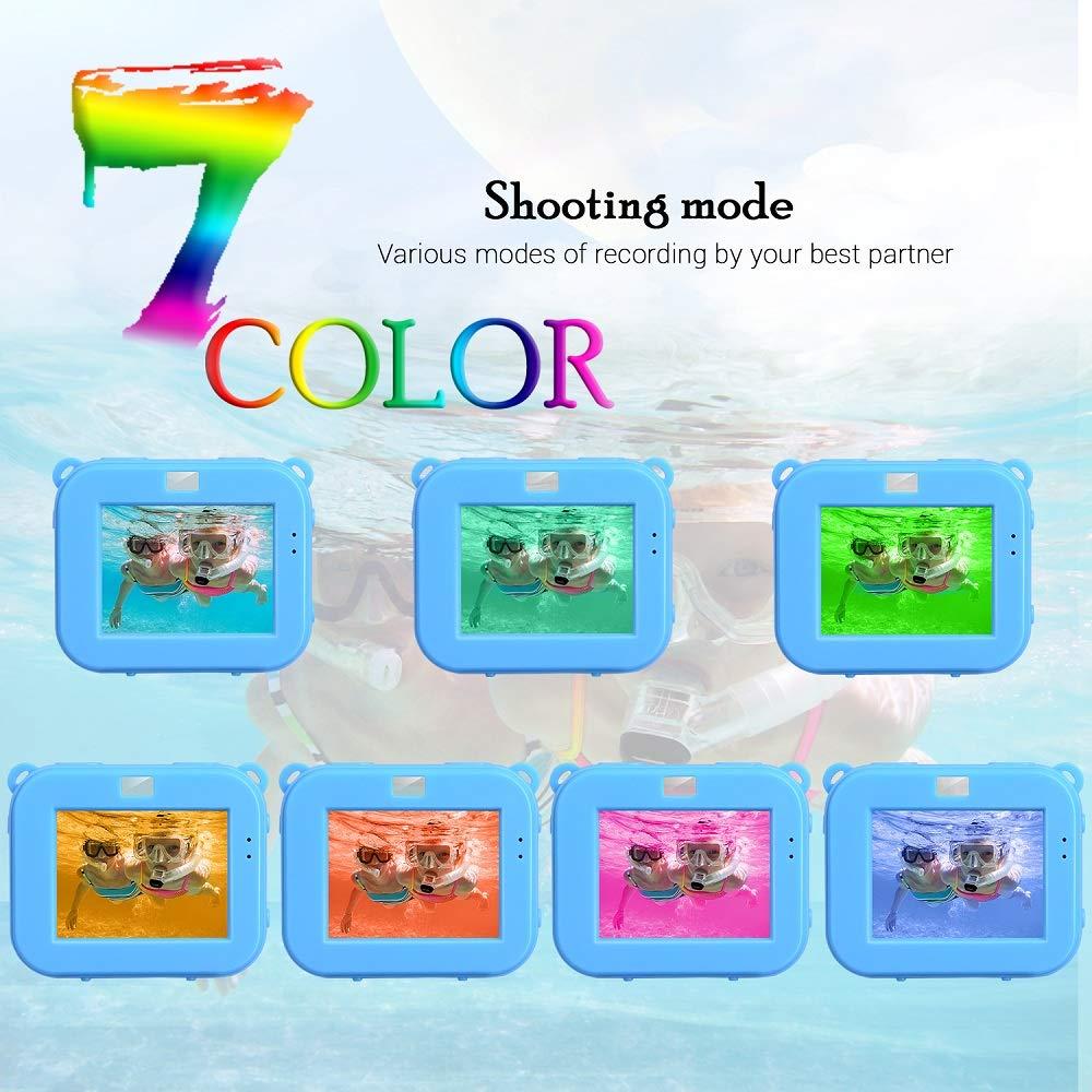 Posiveek Children Kids Camera Waterproof 100FT HD Action Camera 1080P 12MP Sports Camera Camcorder 2 inch LCD Screen (Blue) by POSIVEEK (Image #2)