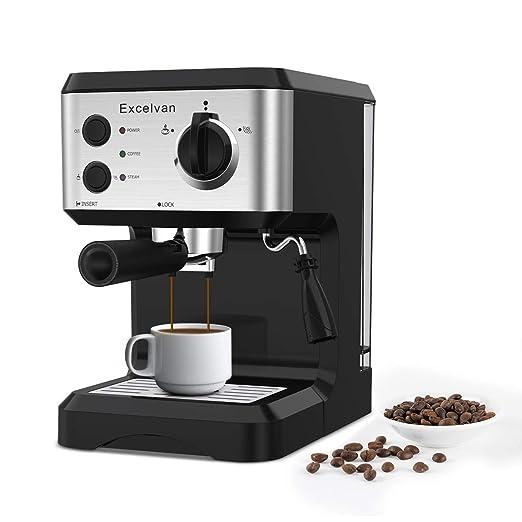Excelvan Cafetera Espresso 1.25L, 15 Bares con Embudo de ...
