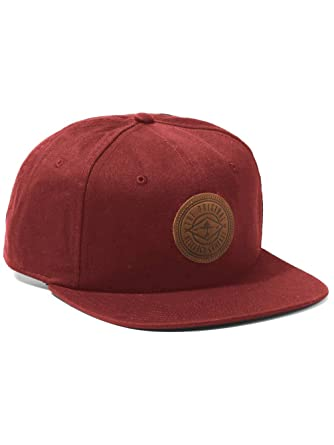79c2272699c LRG Lifted Research Group Outdoorsmen Snapback Hat Men s Leather Patch Cap  Maroon