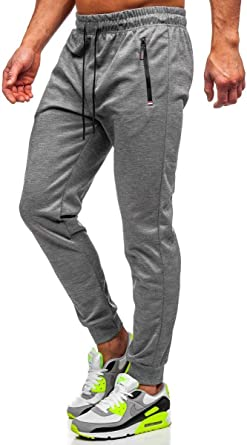 Imagen deBOLF Hombre Pantalón De Chándal Jogger Pantalones Deportivos Estilo Urbano Mix 6F6