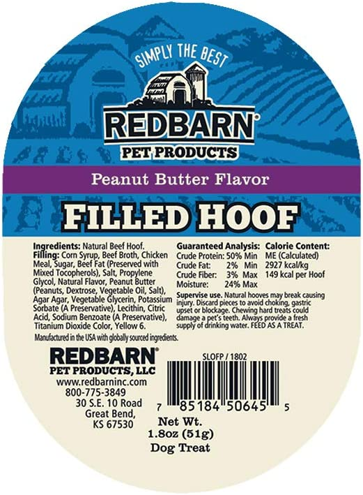 Redbarn Filled Hooves-Peanut Butter 100-Count