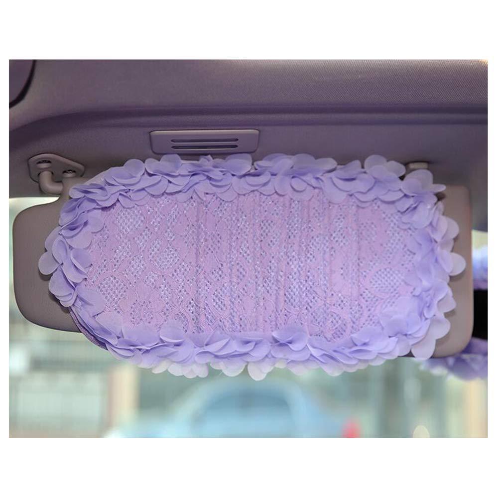 Purple Siyibb Cute Car Sun Visor CD Organizer Holder Case