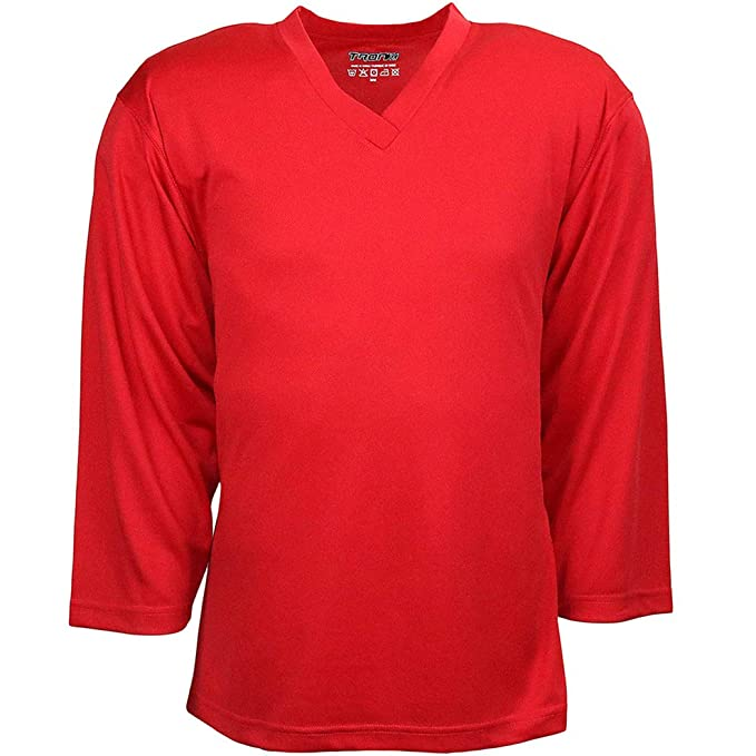 80a5239cc Amazon.com: TronX Hockey Practice Jersey (Red): Clothing