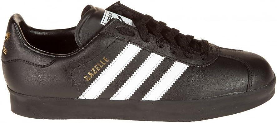 Amazon.com   adidas Gazelle 2 Leather Shoes (Black/White/Black ...