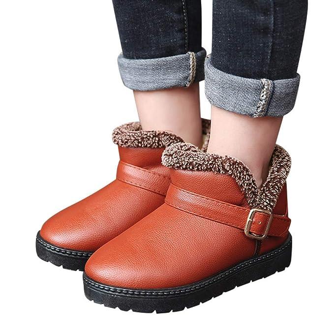 YanHoo Botas de Nieve de Invierno para niños y Botas de Terciopelo Antideslizantes calientan Zapatos Niños Otoño Invierno Moda cálida Niños Chicas Niños ...