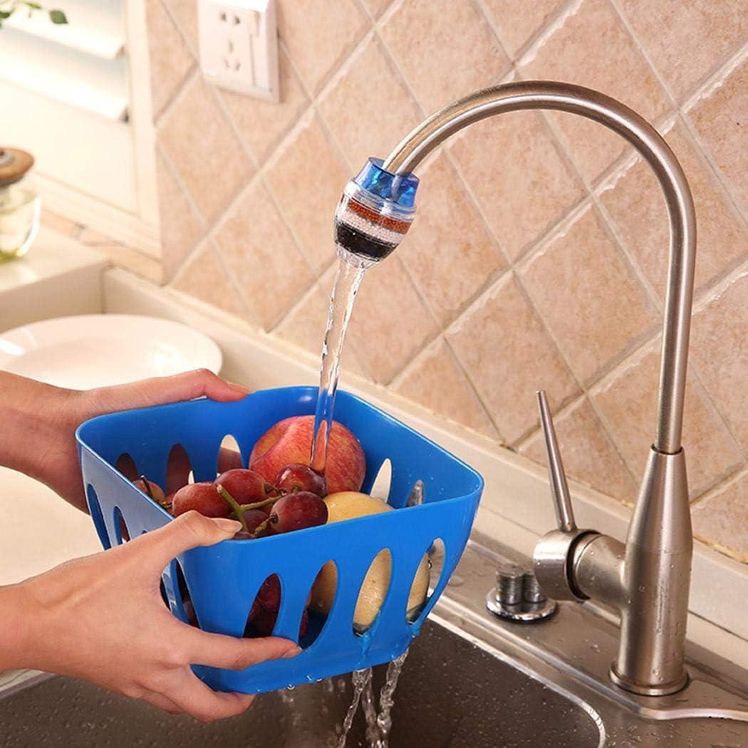 Pongaps Leitungswasserfilter Luftreiniger K/üchenarmatur Aktivkohle-Wasserfilter Wasserfilterkartuschen