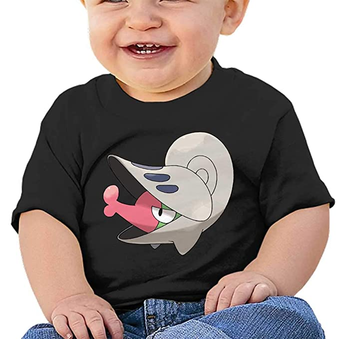 Black Cotton Tee for Boys and Girls,Mew MWHprint Short Sleeved Undershirt