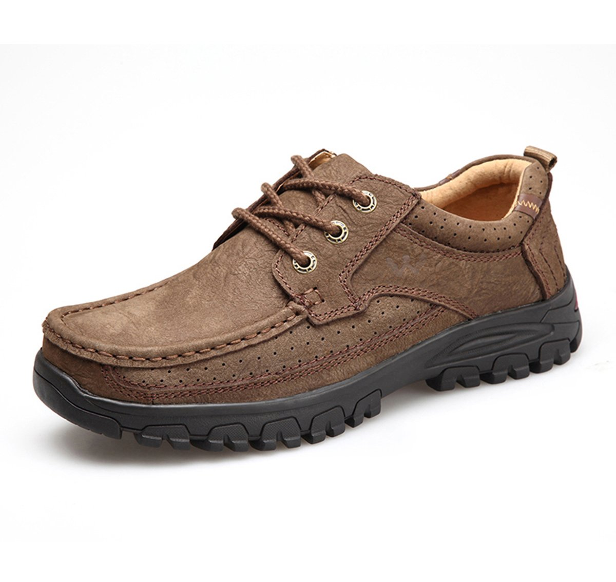 Men's Lace Up Casual Leather Shoe for Walk, Hike, Work and Outdoor Activities H601-39Br