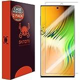 Skinomi 屏幕保护膜兼容三星 Galaxy Note 10+Plus(Note 10+ 5G,6.8 英寸显示屏)(2 件装)(兼容保护套)透明 TechSkin TPU 防气泡高清膜
