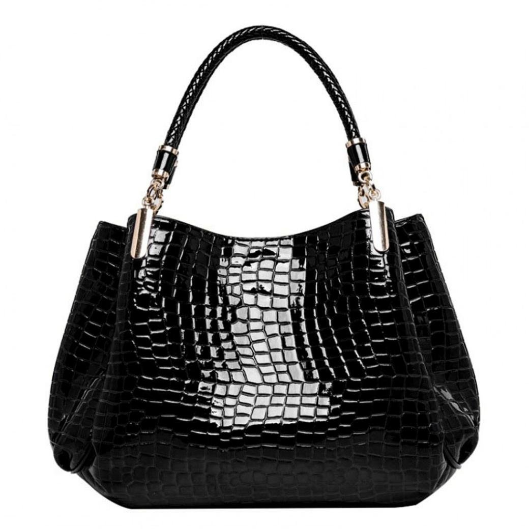 716aeae656e7 Amazon.com: Egmy® 2016 Women Crocodile Vintage Leather Handbag ...