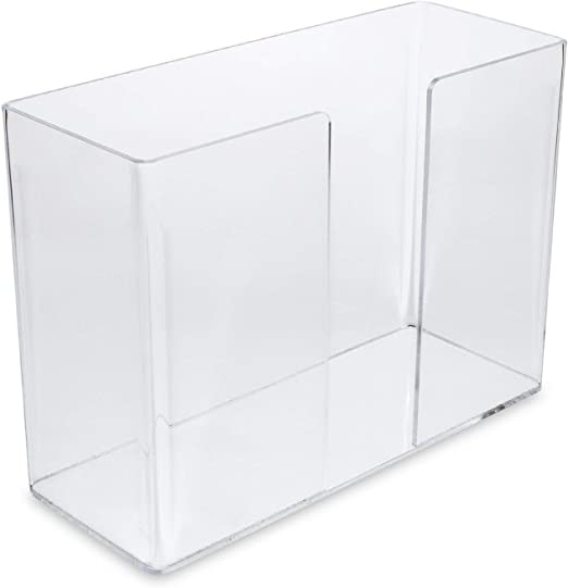 Pack of 1 Clear Acrylic Cq acrylic Paper Towel Holder,wall mountable Paper Towel Dispenser