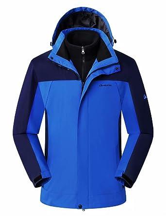 de3407885 Mountec 3-in-1 Men's Waterproof Outdoor Jacket with Removable Fleece Inner  Shell -