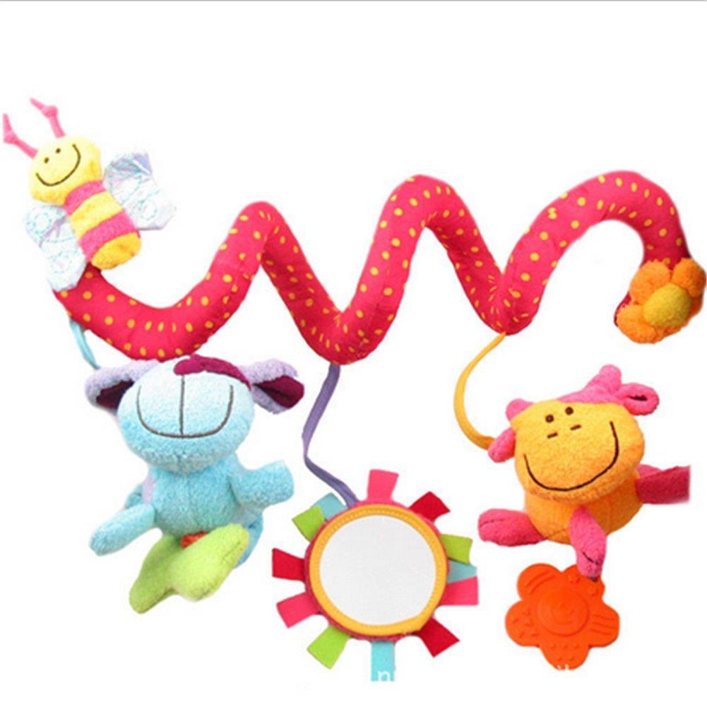 Affe Babybett Stroller weichem Tier Hanging Musik Spielzeug (Rosa) ZGJ