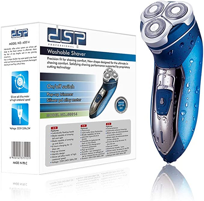 DSP Afeitadora rotatoria eléctrica Wet & Dry para hombres, Máquina ...