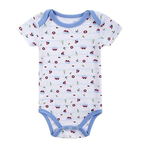 Decdeal Mono de los Mamelucos del bebé 100% algodón Manga Corta Unisex Ropa  de bebé recién Nacido  Amazon.es  Ropa y accesorios df658407e14