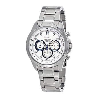 bba309e0a Amazon.com: Seiko Neo Sports Chronograph White Dial Mens Watch ...