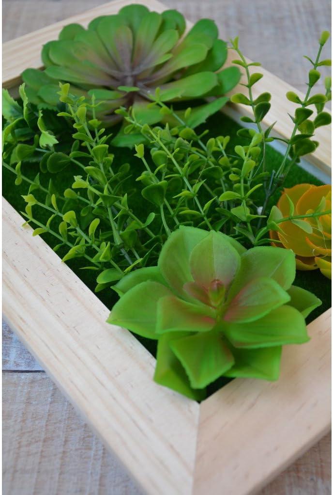 Jardín Vertical Decorativo con Plantas Artificiales Hogar y más - D: Amazon.es: Hogar