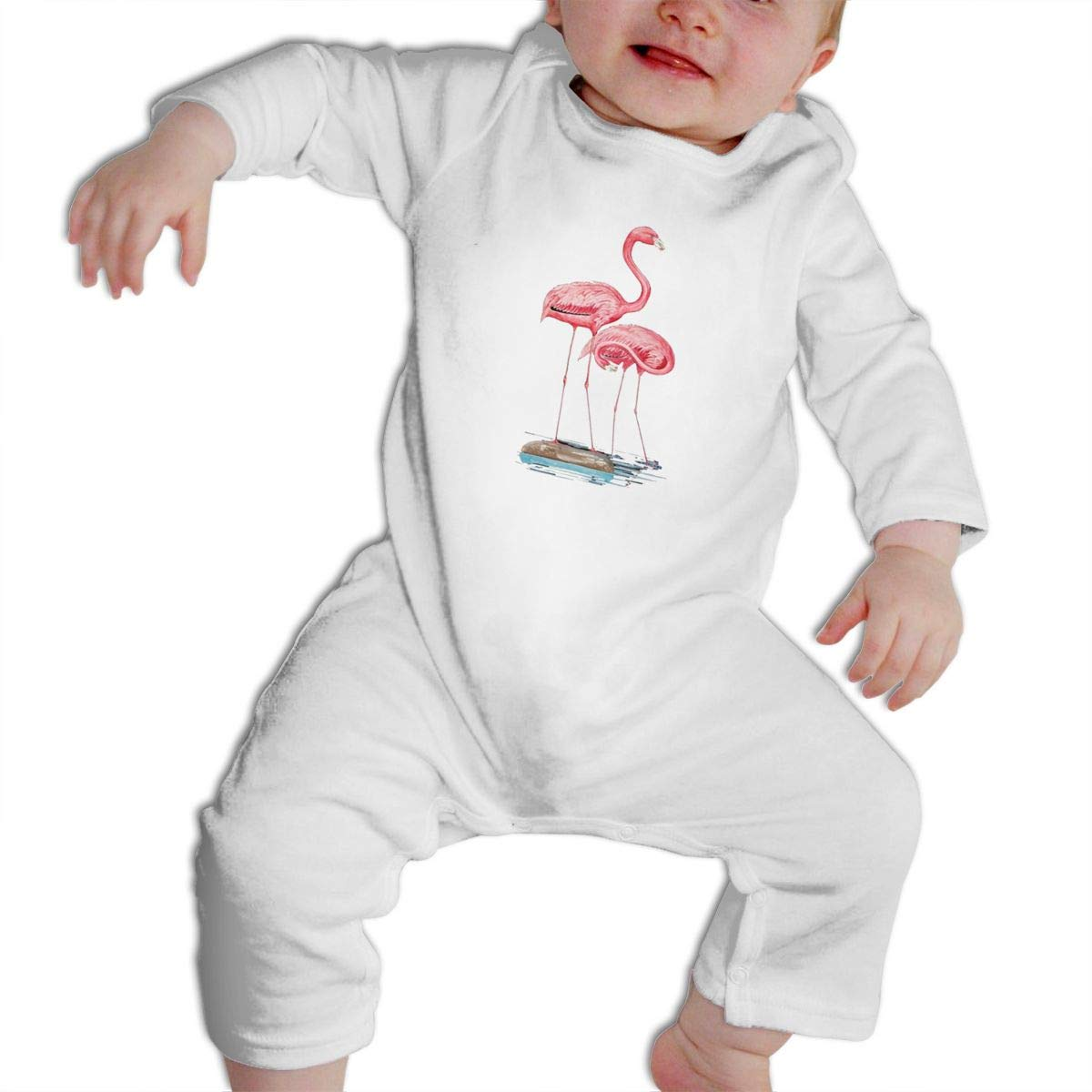Cami Flamingo Baby Boys Girls Long Sleeve Onesies Infant Bodysuit Baby For 6-24months