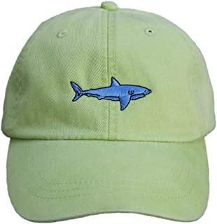product image for Maine Made Belted Cow Shark Design Baseball Hat for Men and Women Lime