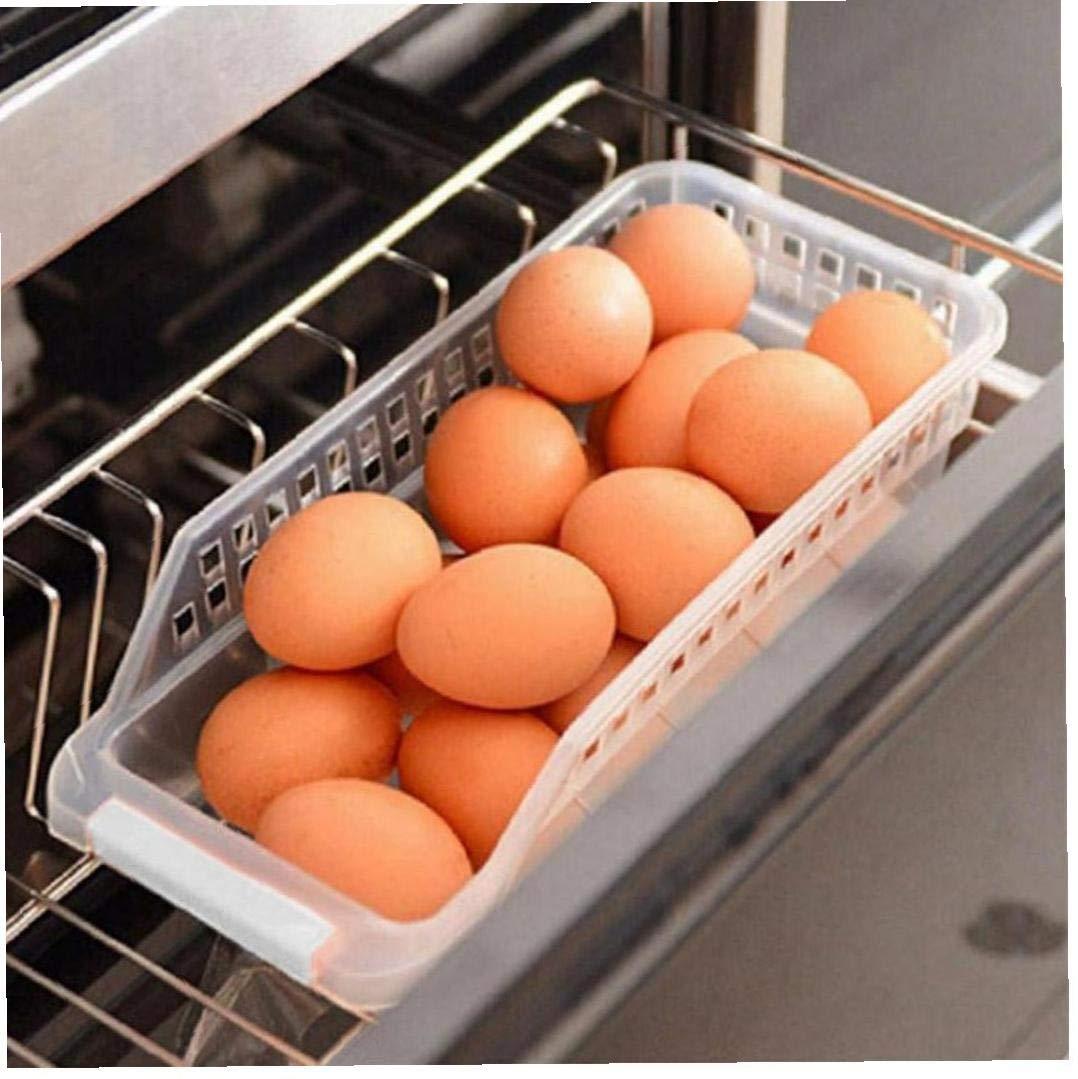 Angoter Cocina Nevera Caja de Almacenamiento Organizador refrigerador de Cocina para Ahorrar Espacio Organizador de Diapositivas del Estante del Estante de Almacenamiento en Rack Organizador Cocina
