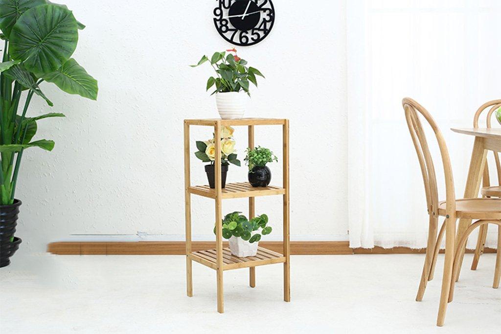 negozio d'offerta &Espositore Stand di di di fiori in legno massello Stand di fiori in bambù a più strati Balcone Soggiorno Stand pianta interna ( colore   A )  controlla il più economico