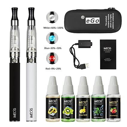 IMECIG® Ego T2 Kits Completo de Vaping Doble TPD E-Cigarrillo Vape Plumas de