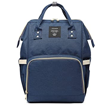 ca756ae2d1 Amazon.com   Fashion Brand Large Capacity Baby Bag Designer Nursing Bag for Baby  Mom Backpack Women Carry Care Bags (Navy)   Baby