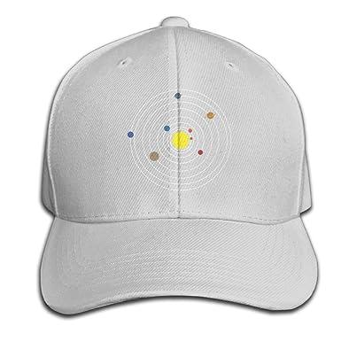 12bb4d3579929 CSYSMZ Minimalist Solar System Baseball Cap Unisex Fishing Caps Peaked Hats  Ash