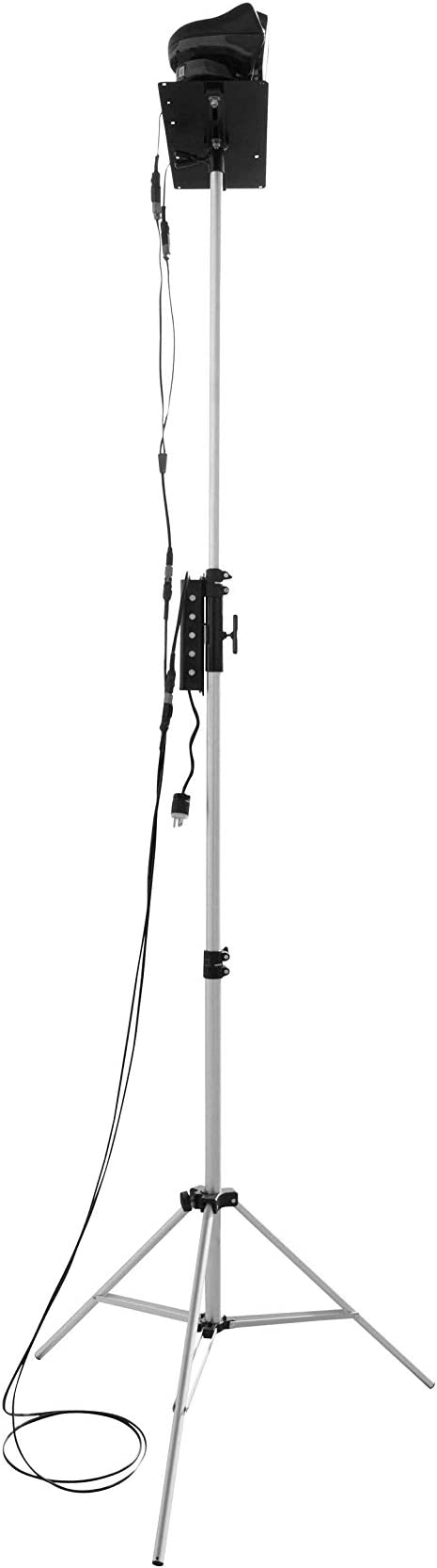 Extends 3.5 to 120-277VAC Portable Telescoping LED Light Tower Dual Remote Control Spotlights