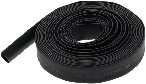 Noir 5m 10mm Sharplace Tube Gaine Thermor/étractable /Étanche 2:1 Housse de Cable Isolation /Électrique S/écurit/é de Cable