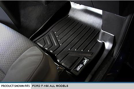 MAXLINER Floor Mats 1st Row Liner Set Black for 2009-2010 Ford F-150 All Models