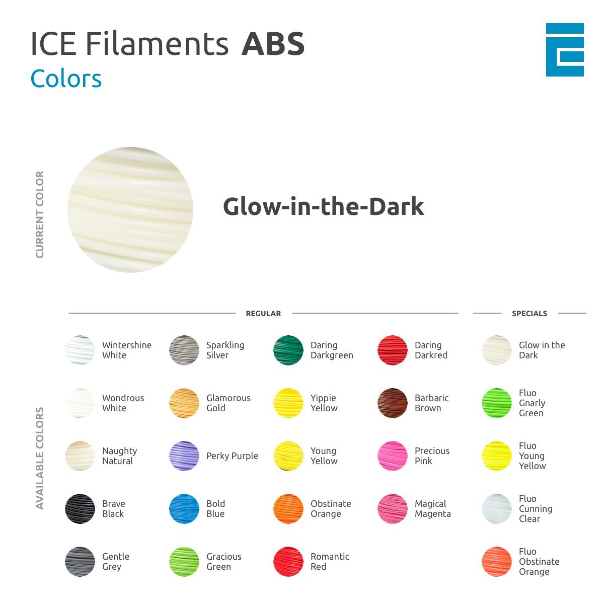 ICE Filaments ICEFIL1ABS081 ABS filament 1.75mm 0.75 kg Groovy Gold