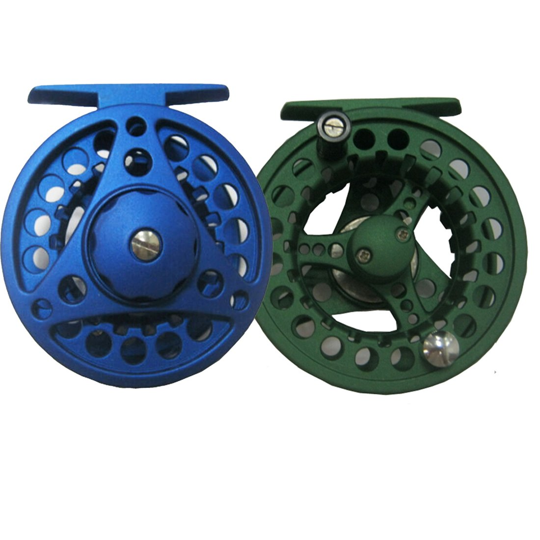 AventikINT Aluminum Alloy Body Fly Reel Die Casting Fly Fishing Reel Super Large Arbor Fly Fishing Trout Reel for Freshwater and Saltwater