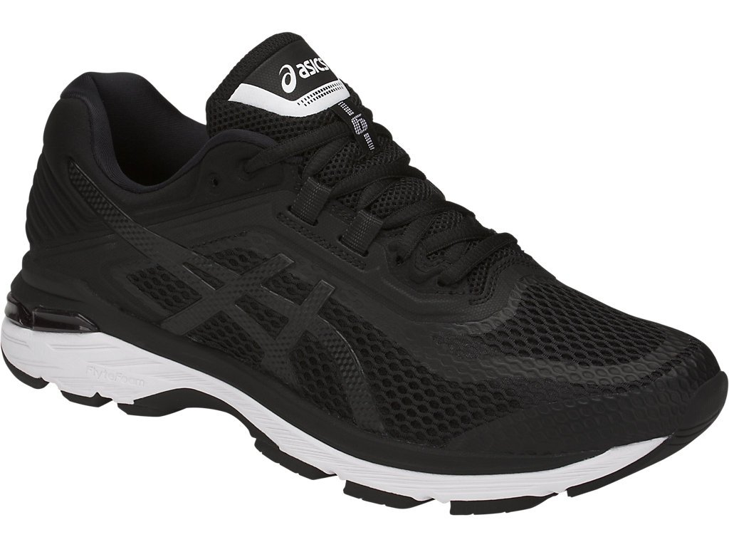 ASICS GT-2000 6 Men's Running Shoe, Black/White/Carbon, 6 M US