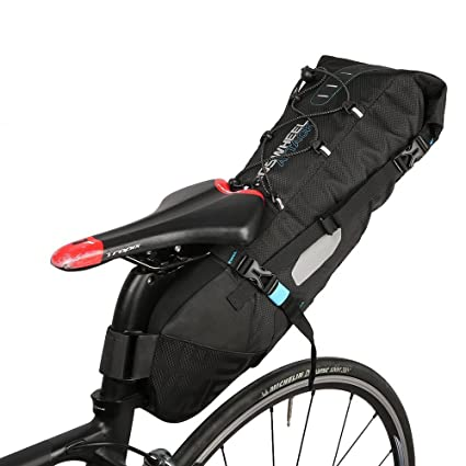 Amazon Com E Goal Roswheel Nylon 10l Bicycle Saddle Bag Full