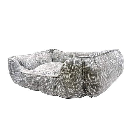 HYXI-Camas Cama para Mascotas Coral Fleece Wearable Biteable Lavable Cat Cushion Jaula para Perros
