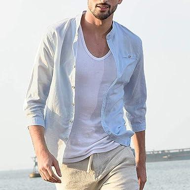 YGbuy-Camisa Manga Corta Algodón Color Sólido para Hombre Polo Camisa Camisa para Hombre Camisa Manga Corta: Amazon.es: Ropa y accesorios