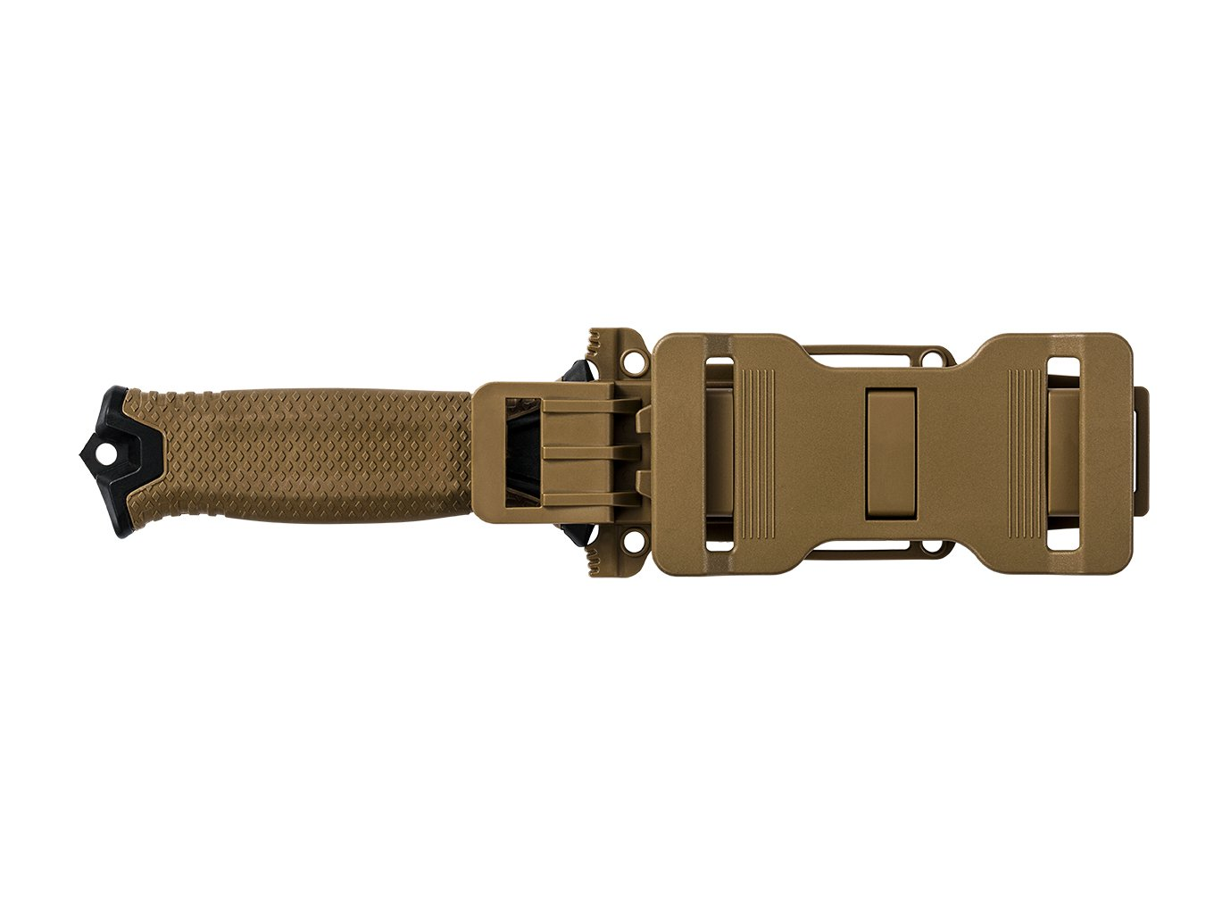 Gerber StrongArm 420 High Carbon Stainless Steel Fixed Blade Full Tang Knife with Molle Compatible Multi-Mount Sheath - Serrated Edge - Coyote Brown (30-001059) by Gerber (Image #4)