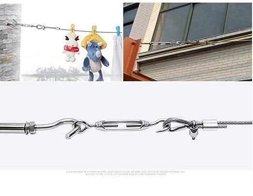Abrazadera De Cable De Clip De Cuerda De Alambre D/úplex M3 Abrazadera De Cable De 2 Postes D/úplex De Acero Inoxidable 10 Piezas Yosoo Health Gear Abrazaderas Cable De Acero