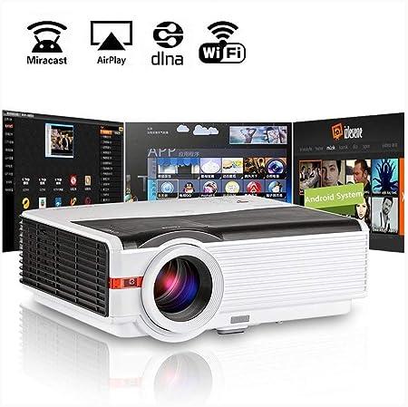 Ai LIFE Proyector doméstico inalámbrico LED 1080P Smart LCD WiFi TV Multimedia Proyector de Cine Interior
