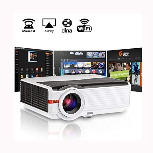 Ai LIFE Proyector doméstico inalámbrico LED 1080P Smart LCD WiFi ...