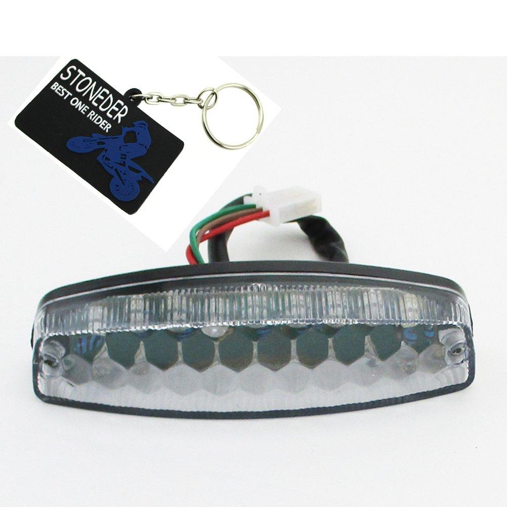 stoneder 12/V LED ATV R/ücklicht Bremslicht f/ür 50/cc 70/cc 90/cc 110/cc 4/Wheeler NST SunL TAOTAO ROKETA Kazuma-Chinesische Quad