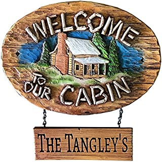 product image for Welcome to Our Cabin Personalized Sign