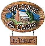 Piazza Pisano Welcome to Our Cabin Personalized Sign